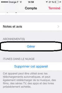 Gérer abonnements Apple Music