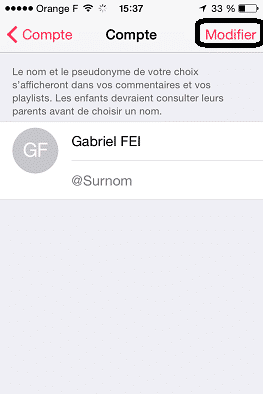 nom et surnom Apple Music